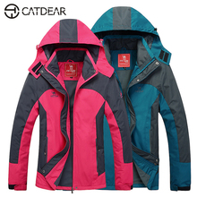 Outdoor soft shell jacket Men's Women's parka impermeable hombre jacket hiking men single layer Three proofing outdoor jacket