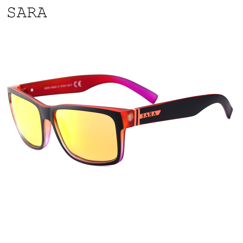 Yellow Polarized Lens Mens Sunglasses Color Multi Frame Summer Fashion Sport Driving High Quality Brand Women Sun Glasses SARA