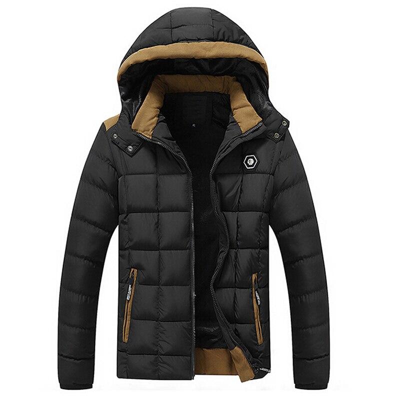 2017 зимняя куртка Для мужчин бархат утолщаются хлопка пальто Для мужчин s Повседневное парка jaqueta masculina Casaco теплый съемный куртка с капюшоном