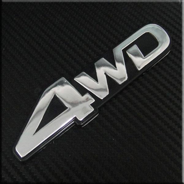 Carbon Fiber ABS 4x4 4-x-4 4 4 x 4 Quattro Rear Emblem Badge Sticker For Jeep