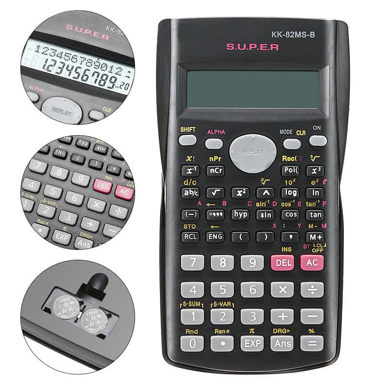 Handheld Student's Scientific Calculator 2 Line Display Portable Multifunctional Calculator for Mathematics Teaching Dropshiping
