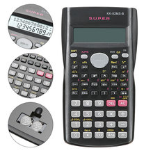 Handheld Multi-function 2 Line Display Scientific Calculator 82MS-A Portable Multifunctional Calculator for Mathematics Teaching children kids date multi purpose calculator silicone wrist watch kids date month time display mini calculator mathematics suppl