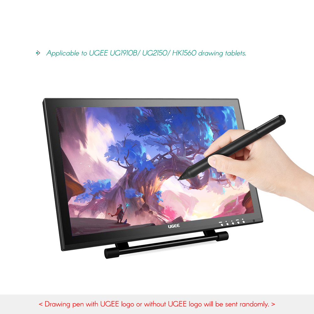 UGEE P50SD Rechargeable Stylus Drawing Tablet Pressure Pen with USB Charging Cable for UG1910B/ UG2150/ HK1560 Tablet (Black) image
