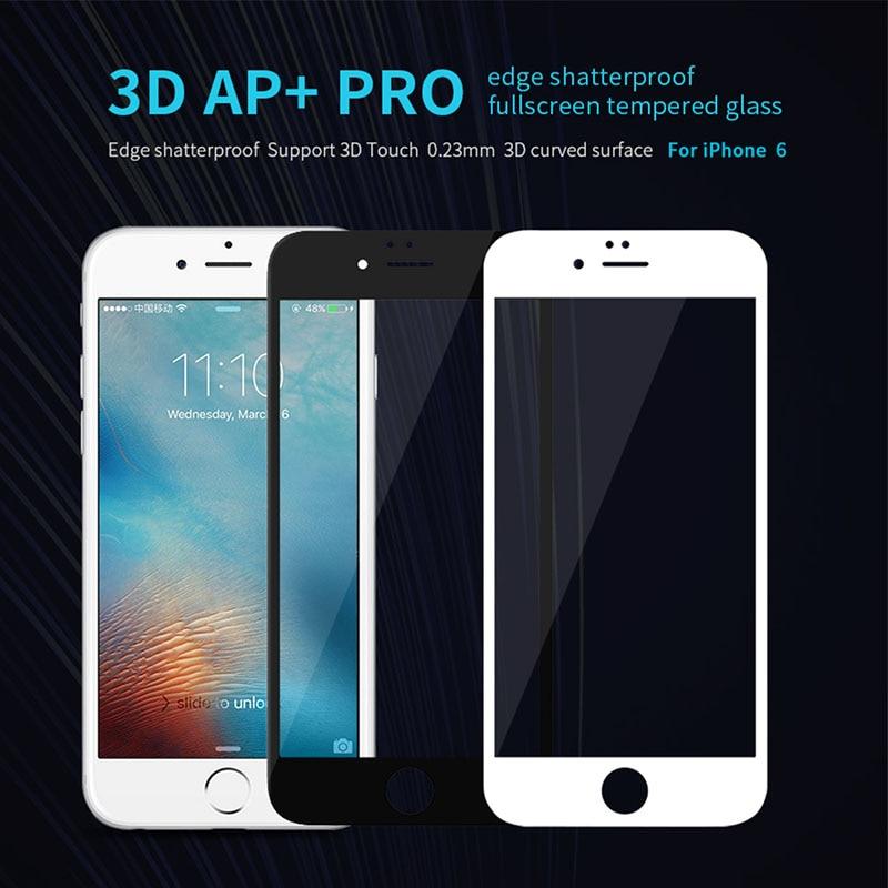 bilder für Für iphone 6 gehärtetem glas nillkin 3d ap + pro rand bruchsicher vollbild gehärtetem glas für apple iphone 6 s 4,7 ''0. 23mm dünne