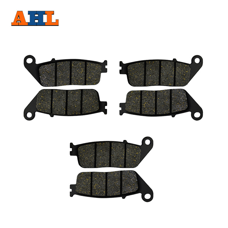AHL Motorcycle Front and Rear Brake Pads For HONDA VFR750F CBR1000F ST1100 GL1500 CBR750 Black Brake Pads ahl motorcycle front