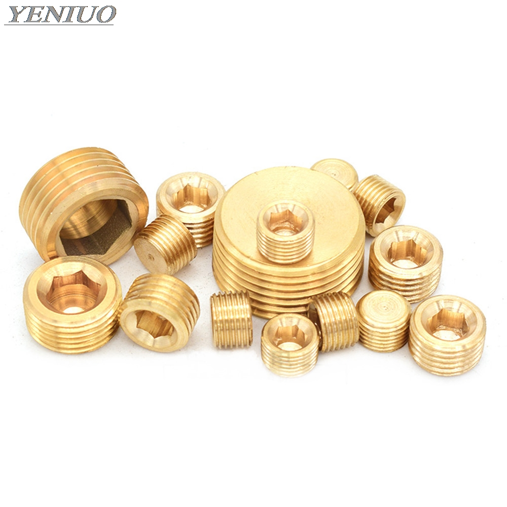 Brass Fittings Gold Tone 1/8
