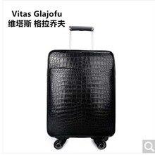 weitasi Крокодил кожаный чемодан чемодан интернат коробка 20-дюймовый чехол рычага может быть доставлен на борт крокодил живота мужчины камера