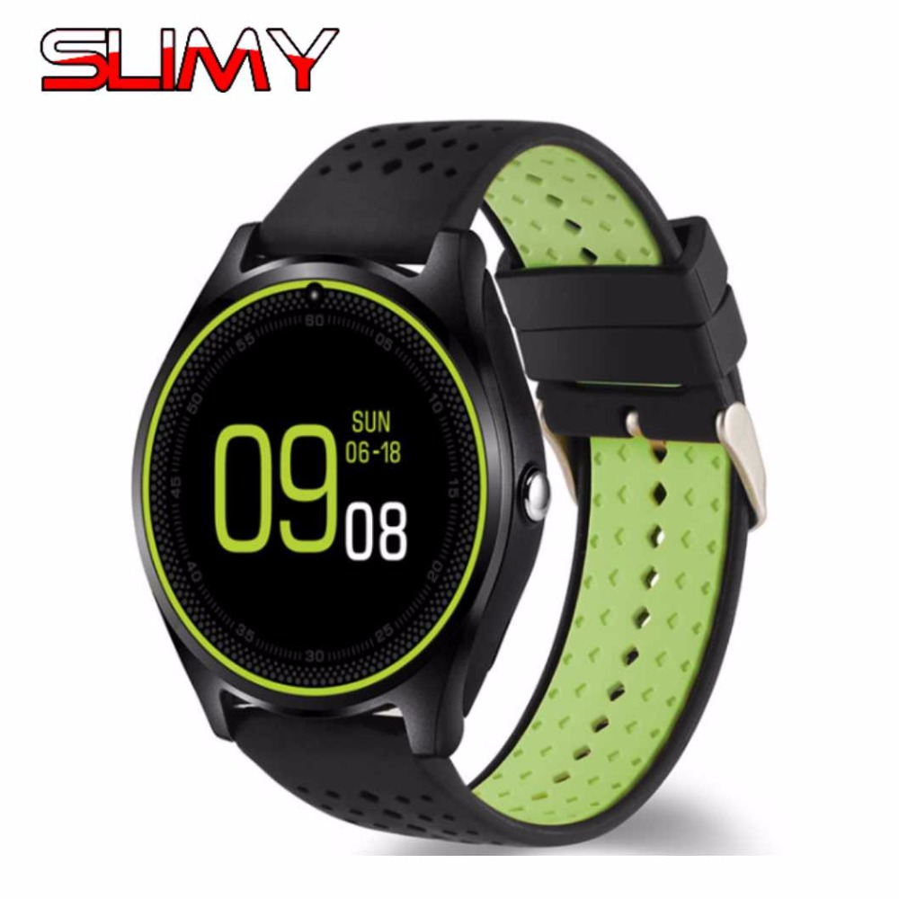 Slimy Wearable Devices Smart Watch Phone V9 Support Nano SIM TF Card Whatsapp Facebook Fitness