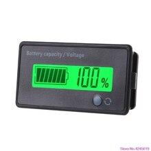 12 V-84 V свинцово-кислотная батарея ёмкость индикатор напряжения постоянного тока Вольтметр ЖК-монитор