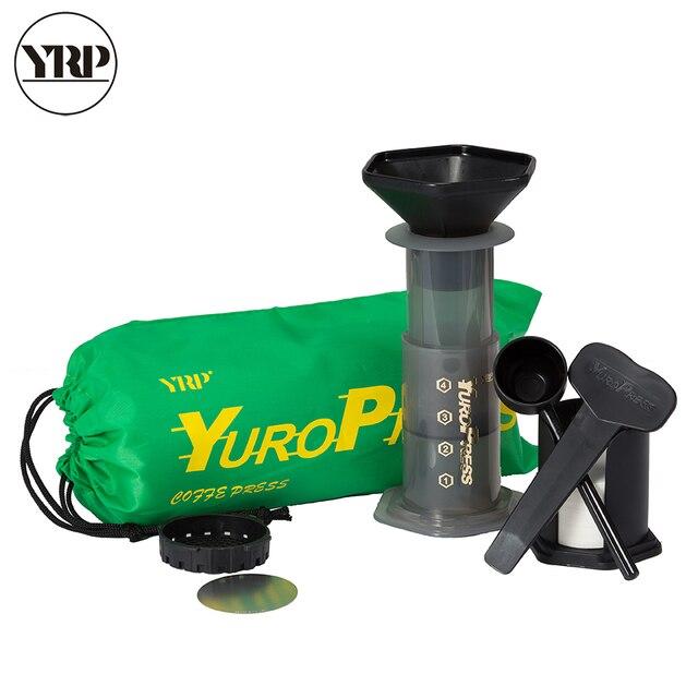 YRP YuroPress Xách Tay Máy Pha Cà Phê Espresso Pháp Hộ Gia Đình Báo TỰ LÀM Cà Phê Nồi Không Khí Báo Chí Pha Cà Phê Nhỏ Giọt Bộ Lọc Máy Giấy