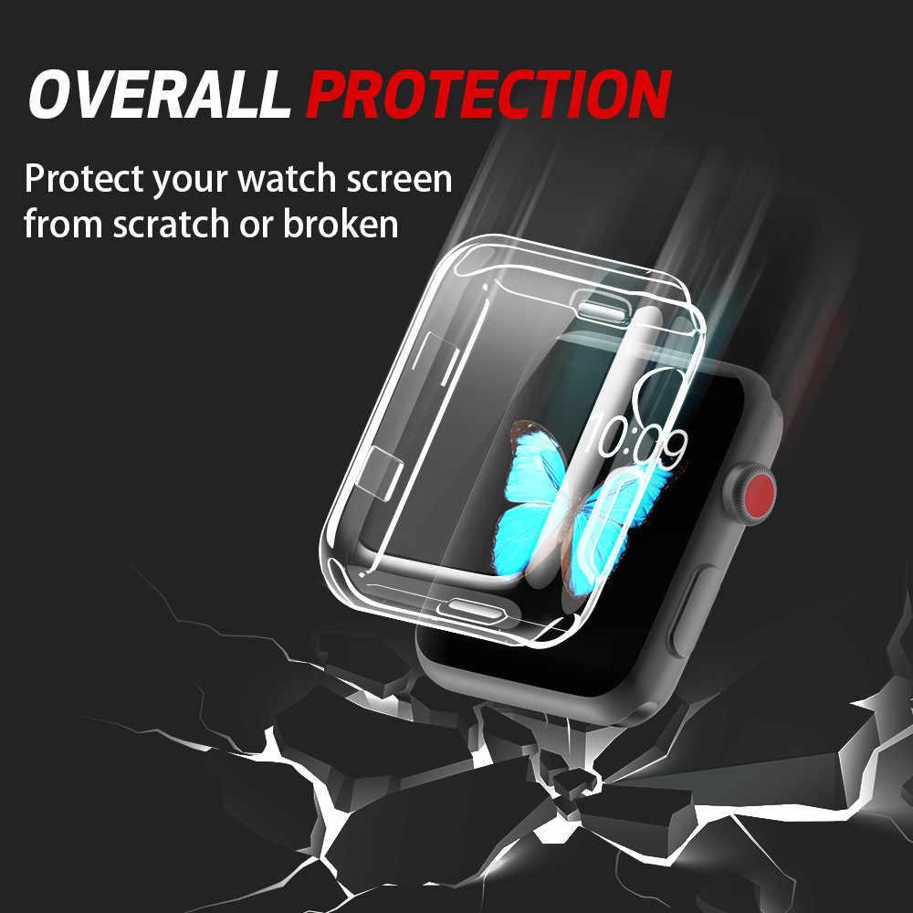 Funda protectora 360 para Apple Iwatch 2 3 4 38mm 40mm 42mm 44mm cubierta I ver Watch2 Watch3 Watch4 38 40 42 44mm Coque caliente