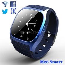 Original Bluetooth Smart Watch M26 clock Barometer Alitmeter Music Pedometer for Android IOS Phone pk u8