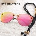 Eyecrafters Роскошные Поляризованных Солнцезащитных Очков Женская Мода Sexy Cat Глаз Зеркало Отражающей Солнечные Очки Ретро Старинные Женские Очки 1