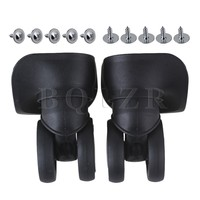 BQLZR 1 Left 1 Right 10x9 6x5 2cm Black Universal Caster Wheel For Suitcase