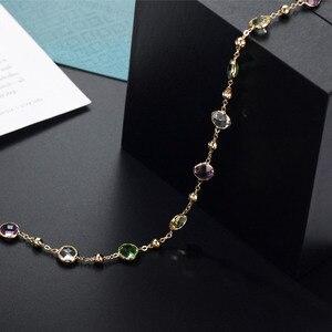 Image 5 - Neoglory 크리스탈 다채로운 라운드 비즈 긴 매력 목걸이 클래식 두 사용 드레스 파티 스와 로브 스키에서 크리스털로 장식