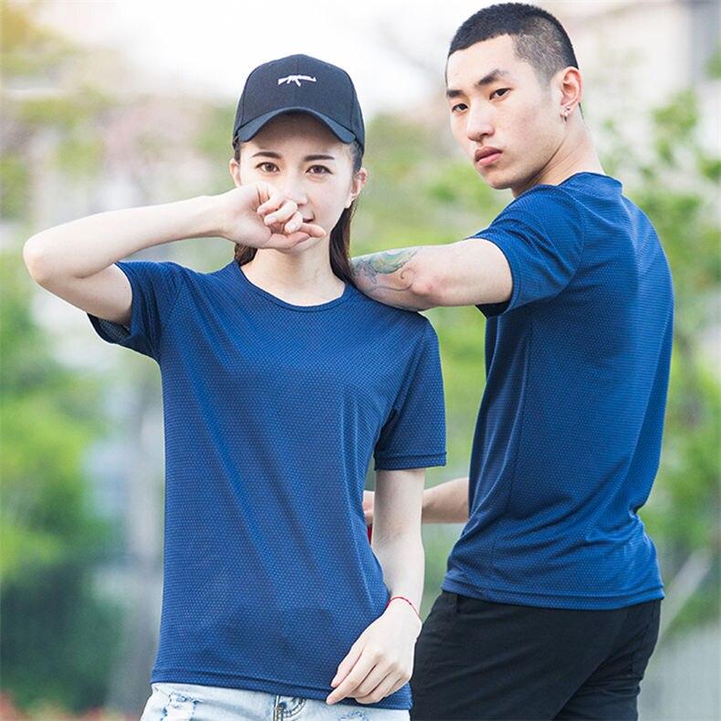 XS-5XL Fast Dry T shirts Men Women Short Male Female Fitness T-Shirts Summer Breathable Hiking Couple Sweat-shirts Man Plus Size 4
