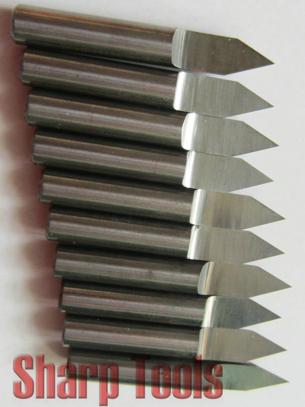 5x 90° Degree High Quality 6mm Carbide Steel Router Pyramid engraving Bit US
