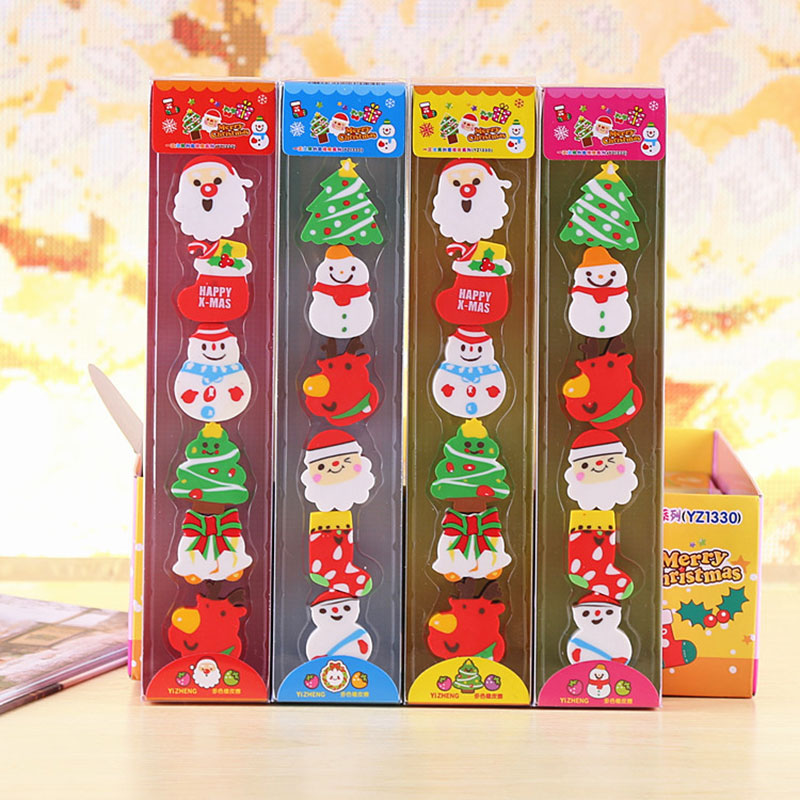 New Year Gift Cute Mini Christmas Eraser  School Stationery Supplies Prize Gifts For Promotion School Office Supplies