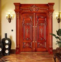 2019 новый дизайн распашные двери внутренняя Массивная древесина двери античный деревянные входные двери