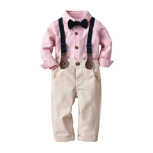 Boy Child Wedding Suit for Babies Kids Suits Blazers Baby Boys Costume Suits Blazer Clothes Baptism Formal Wear Children Clothes(China)