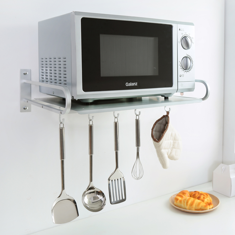 Microwave Oven Shelf Bracket Wall Multifunctional E Aluminum Kitchen Racks Storage Rack Electric Supplies In Knives From Home Garden On