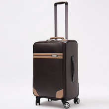 High Quality Retro suitcase women and men travel bags PU commercial compute trolley case, new style, luggage, lock, mute,20 24