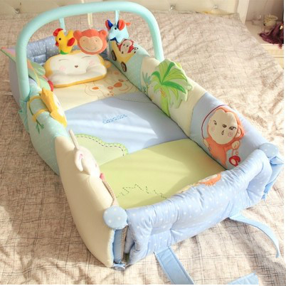 Baby bed multi-function pure cotton bed in game pad carry portable hammock folding bed teddy in bed