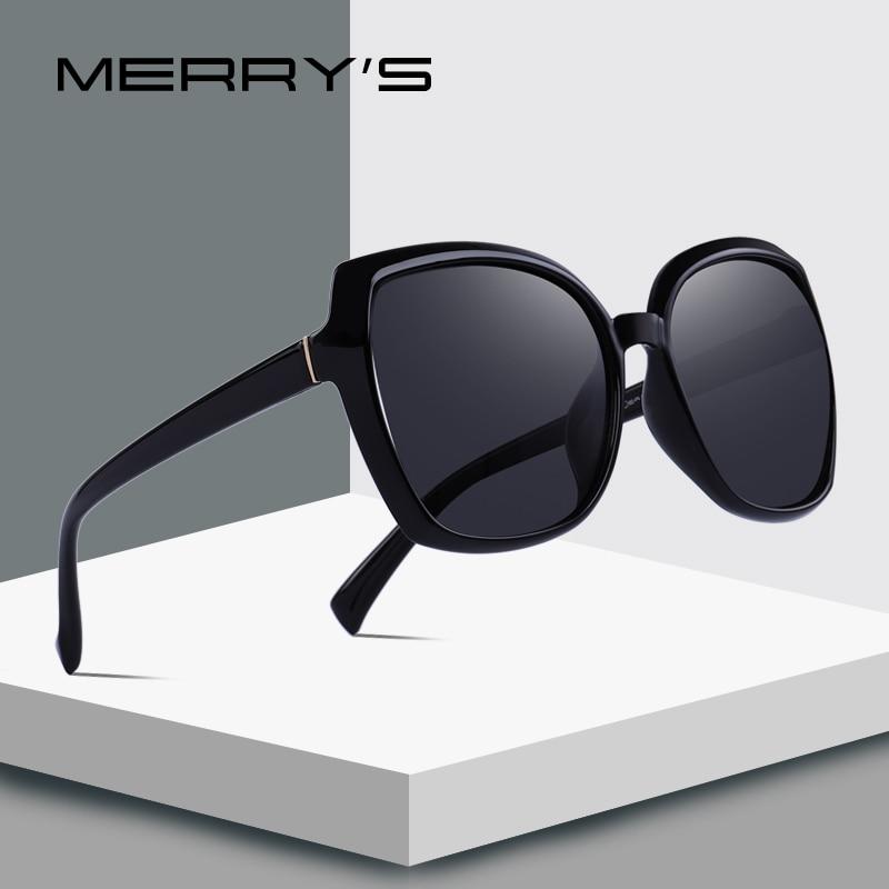 Merrys design feminino moda gato olho óculos de sol senhora polarizada condução óculos de sol 100% proteção uv s6087