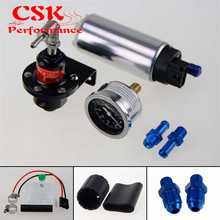 Топливный насос/бак 255 LPH EFI + регулятор давления 140 PSI + комплект манометра масла черный/синий/красный