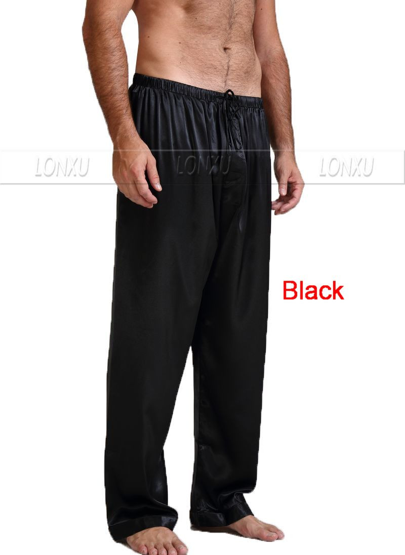 Mens-Silk-Satin-Pajamas-Pyjamas-Pants-Lounge-Pants-Sleep-Bottoms-Free-p-p-S-4XL-Plus (2)