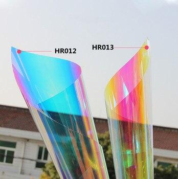 Sunice Colorful glass film Symphony laser film explosion-proof decorative stickers window rainbow film For Glass Acrylic 1x20m
