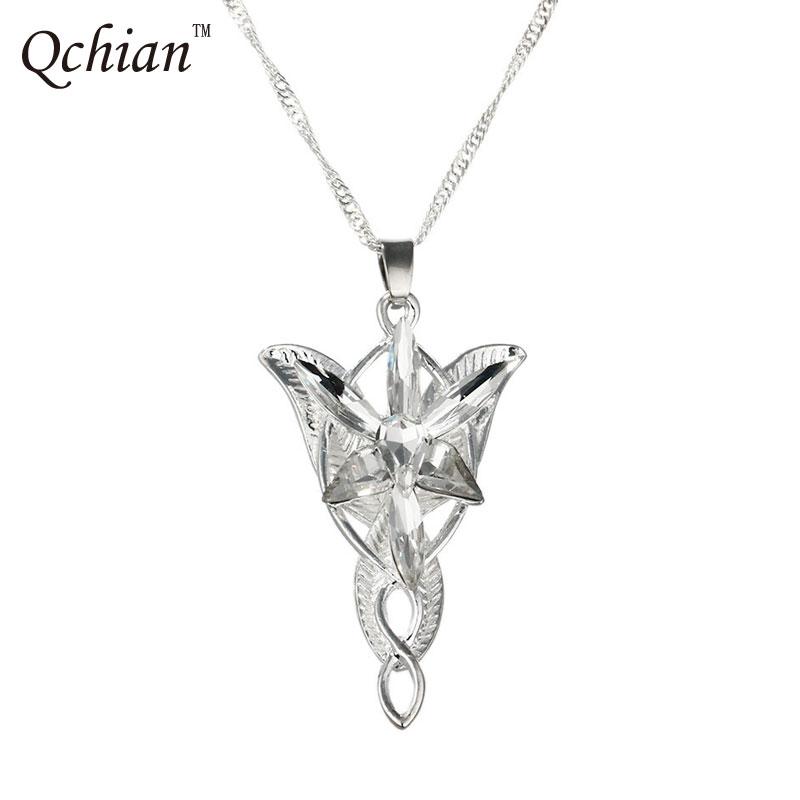 The Lord Necklace of Arwen Evenstar Pendent Movie Jewelry Crystal Twilight Star Silver Pendent Torque Gift for Women