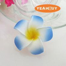 wholesale 100pcs 9cm hawaian 5COLORS  real touch Artificial PE plumeria Flower Heads DIY wedding party headware decoration