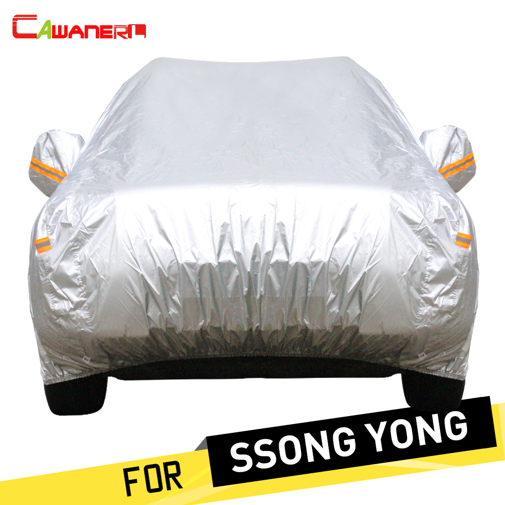 Cawanerl Car Cover Anti UV Sun Rain Snow Resistant Cover For SSONG YONG Actyon Tivoli Korando