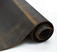 Cowhide cow leather brown thick genuine leather about 2.0 mm crazy vintage First Layer leather piece Tanned big Leather piece