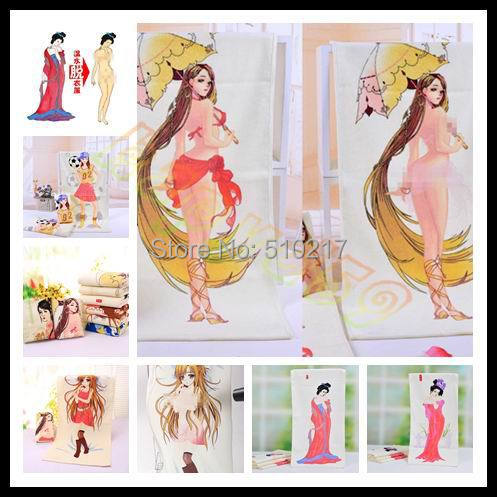 Sexy Beauty Soccer Girl Undressing Magic Towel Heating Undress Towel Sexy Discoloration Face Towel Birthday Valentine