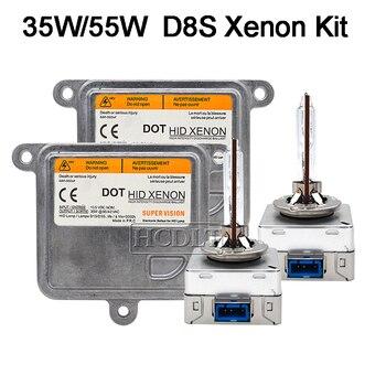 HCDLT Super Veloce Luminoso 35 W 5500 K Xenon D8S Kit HID 55 W D8S Xenon HID Lampadina Del Faro Della Lampada Car Styling 12 V HID Xenon Ballast Kit