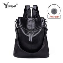 hot deal buy ybyt brand 2018 new vintage backpack women pu leather fashion backpacks casual large capacity girls backpack school shoulder bag