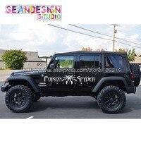 2 Pics For Wrangler RUBICON Sahara Spyder 4X4 OFF ROAD SUV WHEEL Van Truck Decal Stickers Waterproof Z24