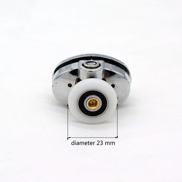 4 pcs rodas Porta Do Chuveiro Rolos Porta Rodas Corredores 23mm Porta de Vidro Do Banheiro Acessórios de Hardware