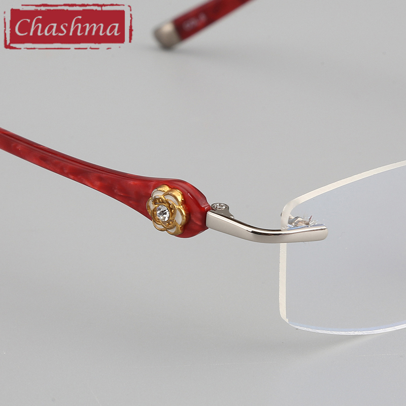 Image 5 - Chashma Brand Designer Ultra Light Glasses Rimless Eyeglasses Female Prescription Spectacles Quality Titanium Frames for Women-in Women's Eyewear Frames from Apparel Accessories
