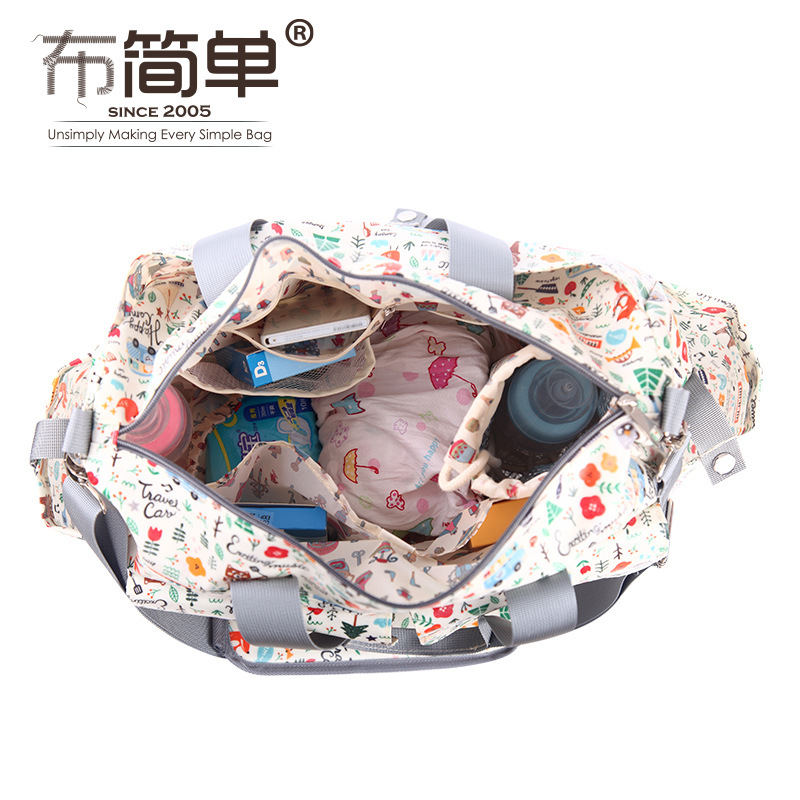 3PCS/set Print 2 Colors Baby Nappy Bags Suit Large Capacity Diaper Bag Mother Maternity Handbag Hobos Messenger BagsStroller Bag