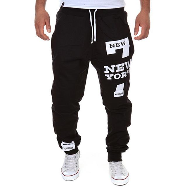 2016 de Otoño de Moda de Verano Pantalones Casuales Pantalones de Chándal Para Los Hombres de La Calle Y Los Pantalones Harem De Impresión Carta 7 Masculino Outwear13K03