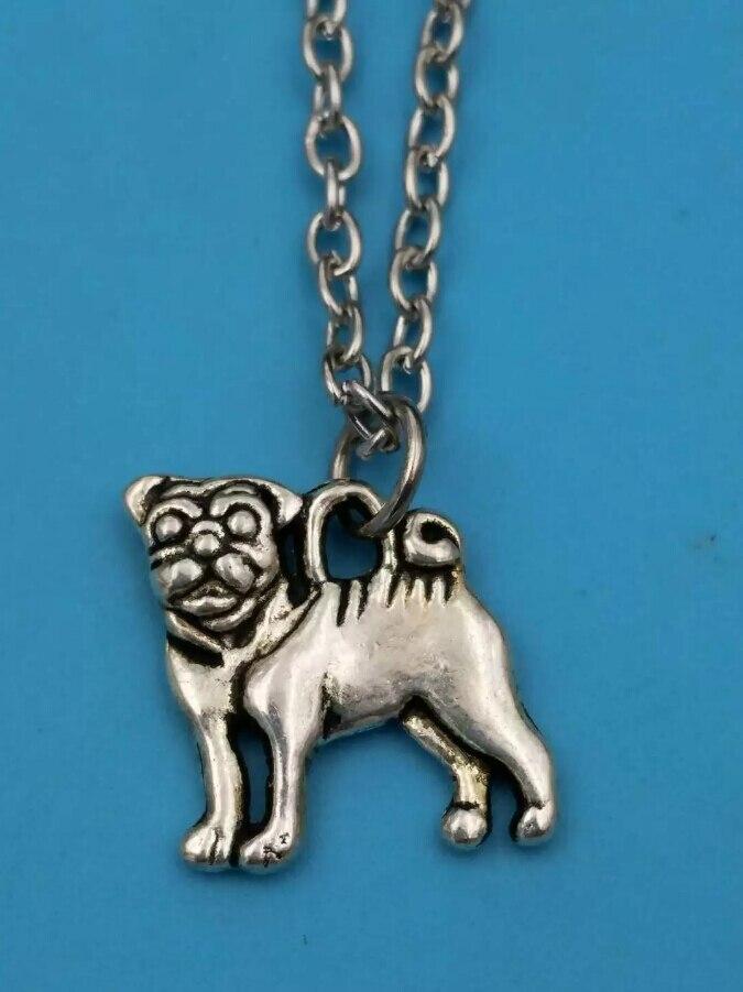 45cm Chain Summer style Fashion Jewelry Vintage SilverCute greyhound GogCharms Pendant Statement Necklace Gift z26