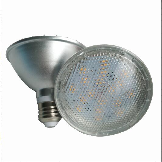 Free Shipping PAR20(5W) PAR30(9W) PAR38(15W) IP65 Waterproof LED Bulb Light With Transparent Or Milky Cover Dimmable Support