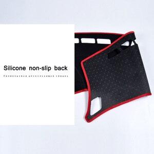 Image 2 - car dashboard avoid light pad instrument platform Desk Cover Mats Carpets For Peugeot 3008 2016 2017 2018 Automotive interior