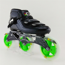 3X 110mm Round Cake Carbon Saints Speed Roller Skating Shoes Adult Racing Skates Shoes inline skating shoes