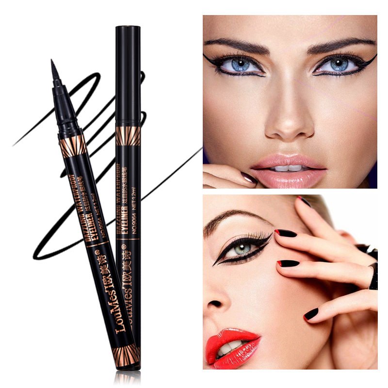 loumesi eyeliner Not Dizzy Waterproof Eyeliner Black Liquid Long-lasting Eye liner Pencil 1.2ml Beauty Makeup black eyeliner gel
