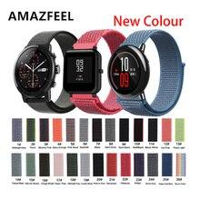 22 мм 20 мм нейлоновый ремешок для Xiaomi Huami Amazfit Bip pace ремешок на запястье нейлон Velcro петля умные часы с ремнем Аксессуары для браслета