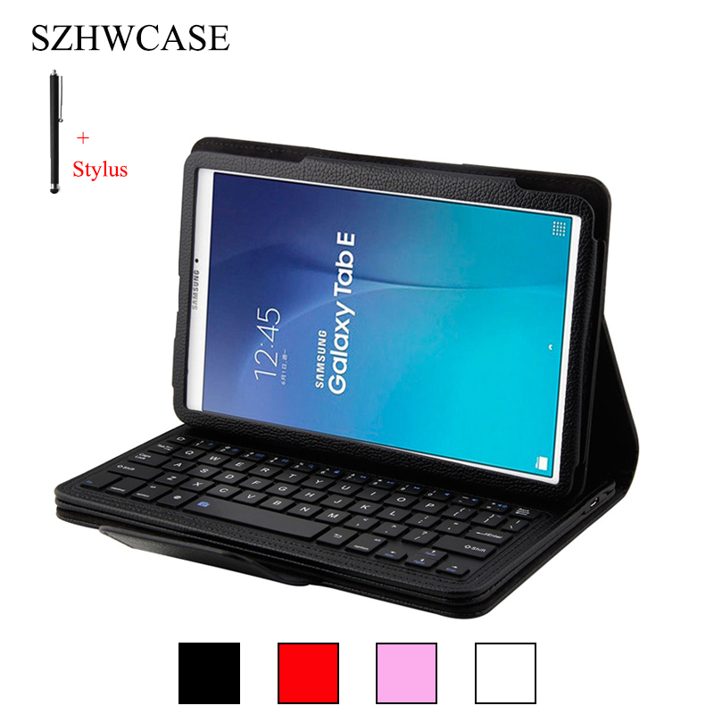 Wireless Bluetooth Keyboard For Samsung Galaxy Tab E 9.6 T560 Case Cover For Samsung Tab E 9.6 Tablet Flip Leather Stand +Stylus